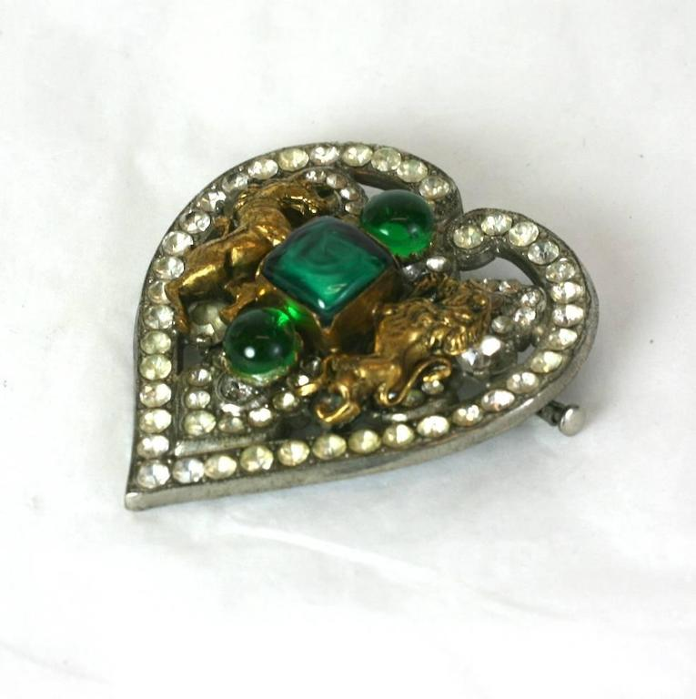 CoCo Chanel Byzantine Heart Crest Brooch 3