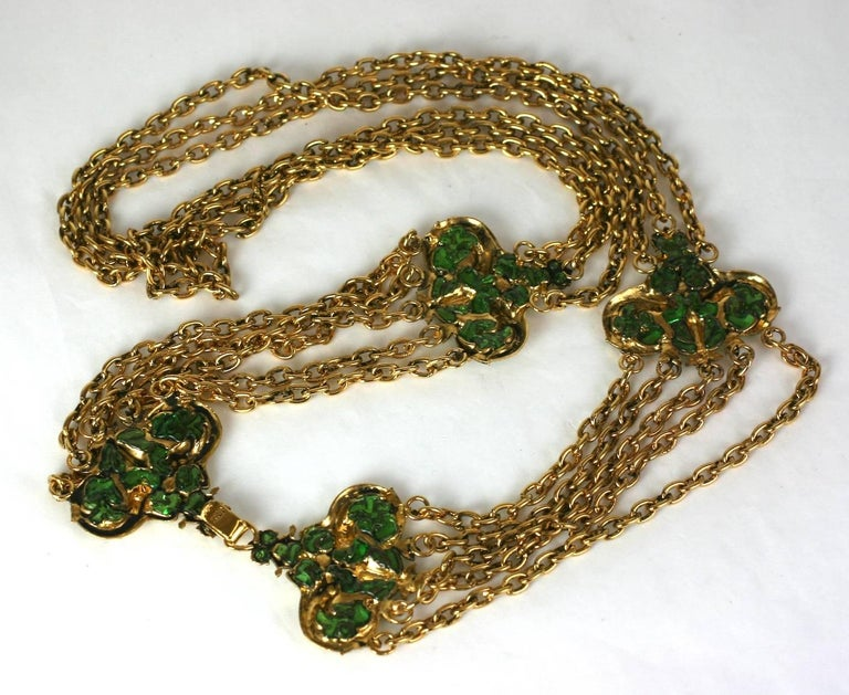 Coco Chanel Early Poured Glass Sea Serpent Belt For Sale 1