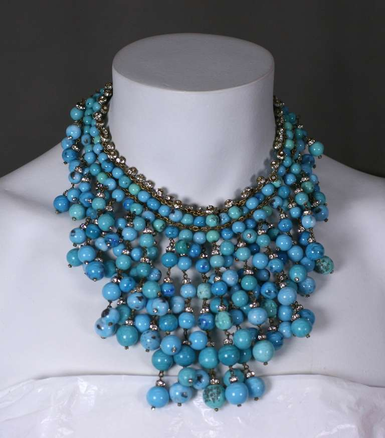 Important  Anglo Indian Gripoix Bib for Chanel In Excellent Condition For Sale In Riverdale, NY