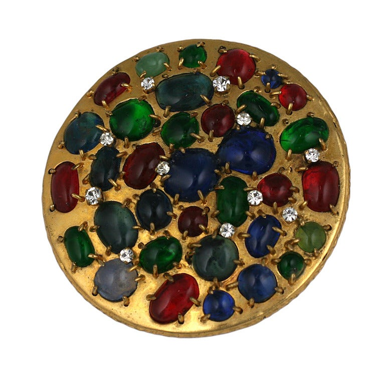 Chanel Barbaric Byzantine Round Brooch For Sale