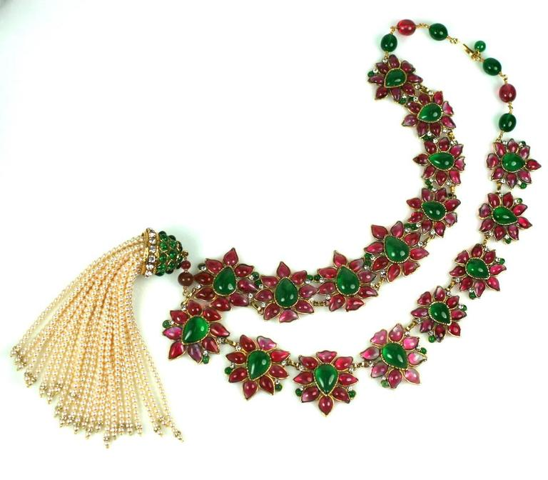 Massive and Important Moghul Style Necklace by Maison Gripoix For Chanel 3