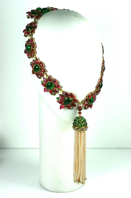 Massive and Important Moghul Style Necklace by Maison Gripoix For Chanel 5