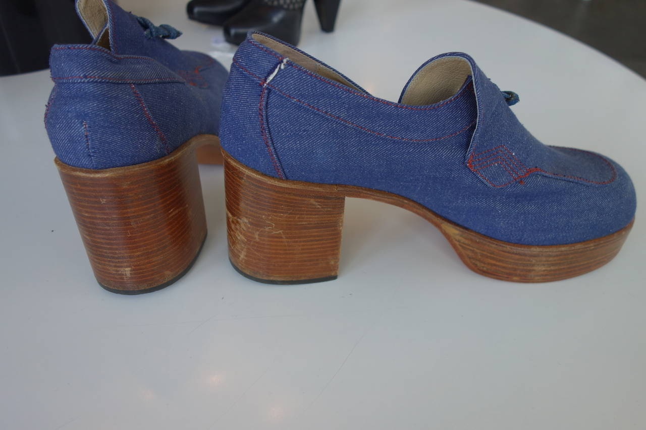 1970's Fantasia Men's Platform Shoes In Good Condition For Sale In Cincinnati, OH