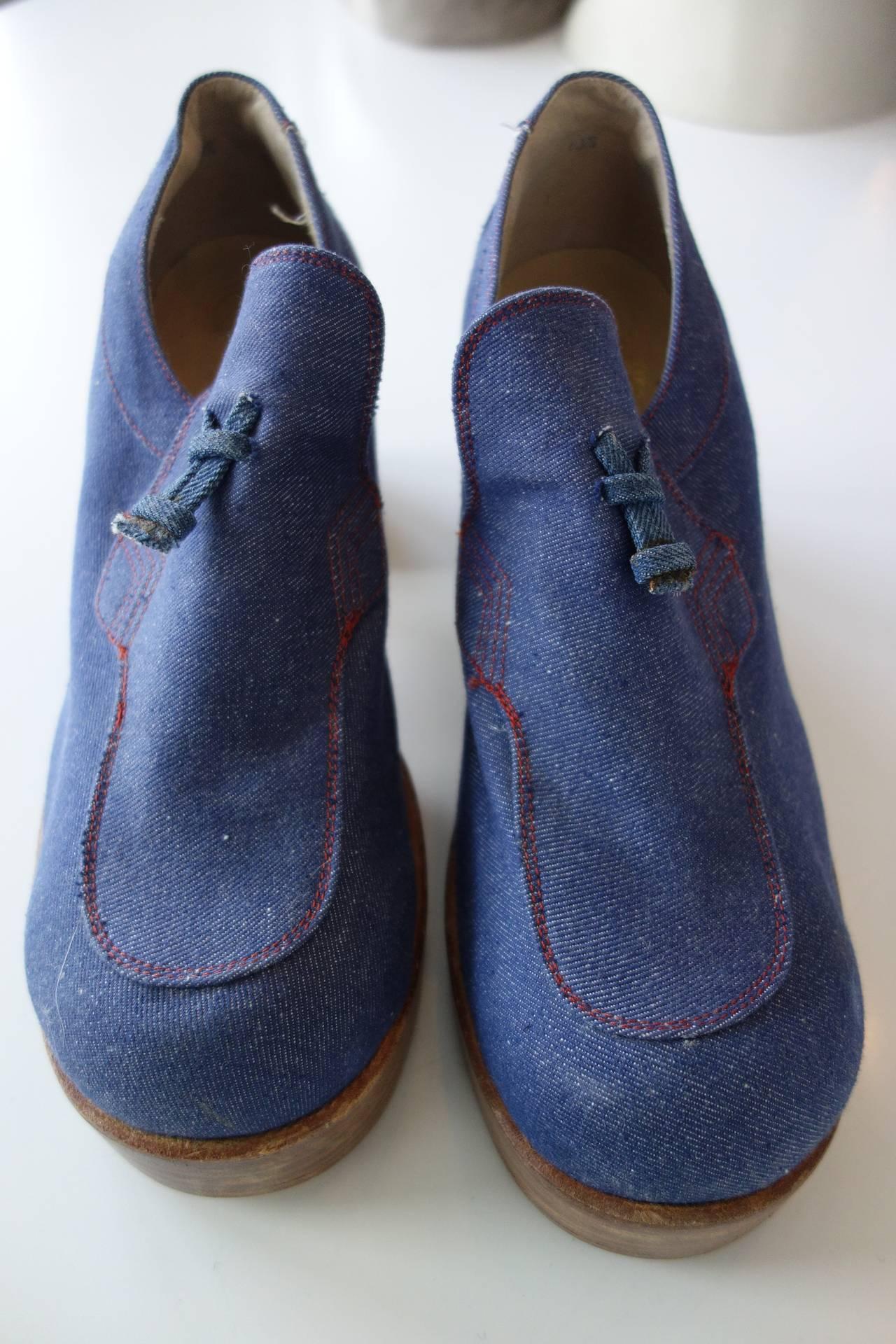 1970's Fantasia Men's Platform Shoes For Sale 1