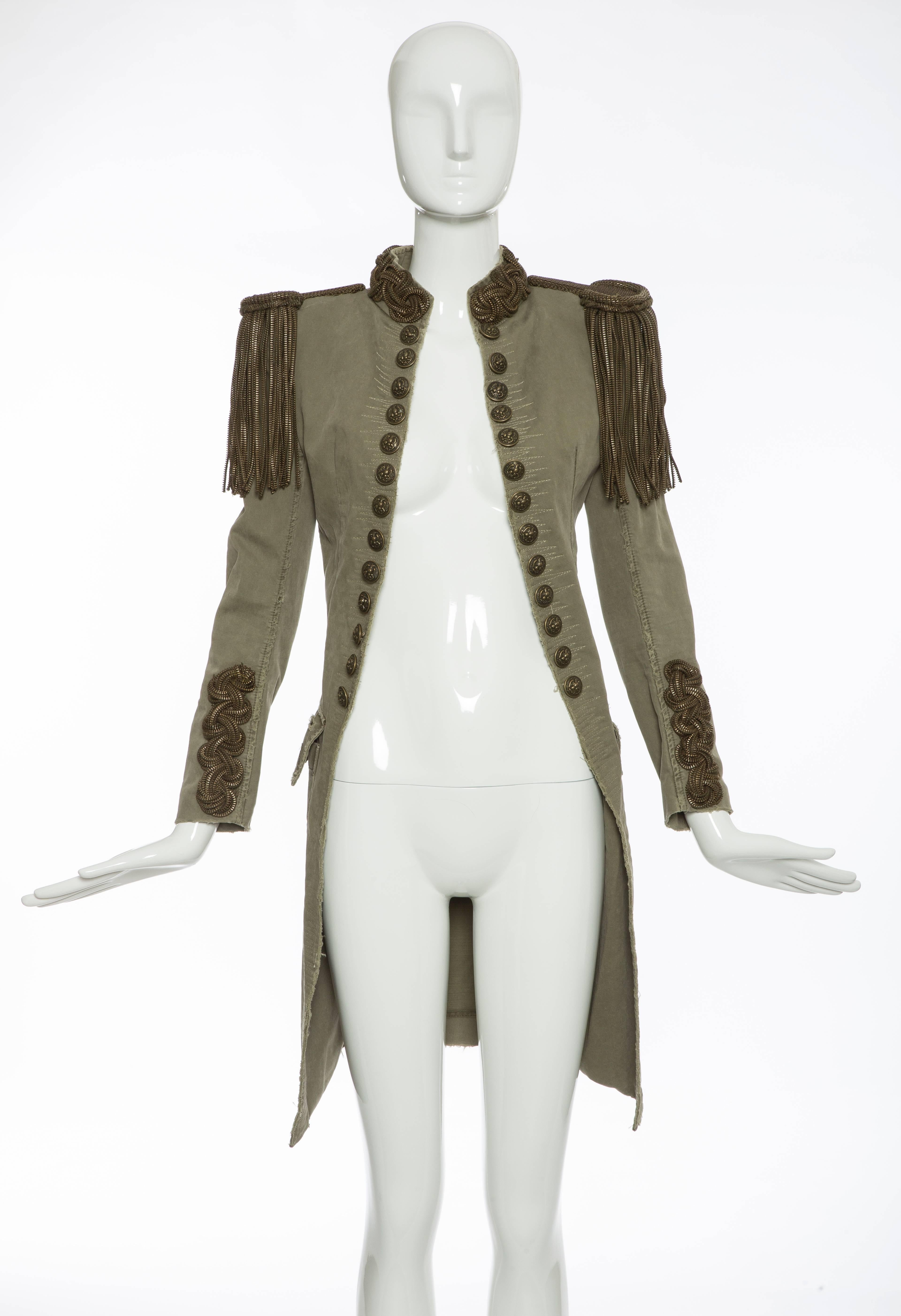 29c4a1d6 Balmain By Christophe Decarnin Runway Military Jacket, Spring 2010 For Sale  at 1stdibs