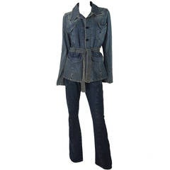 Henry Duarte Denim Pant Suit