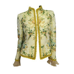 Oscar de la Renta Lesage Embroidered Jacket