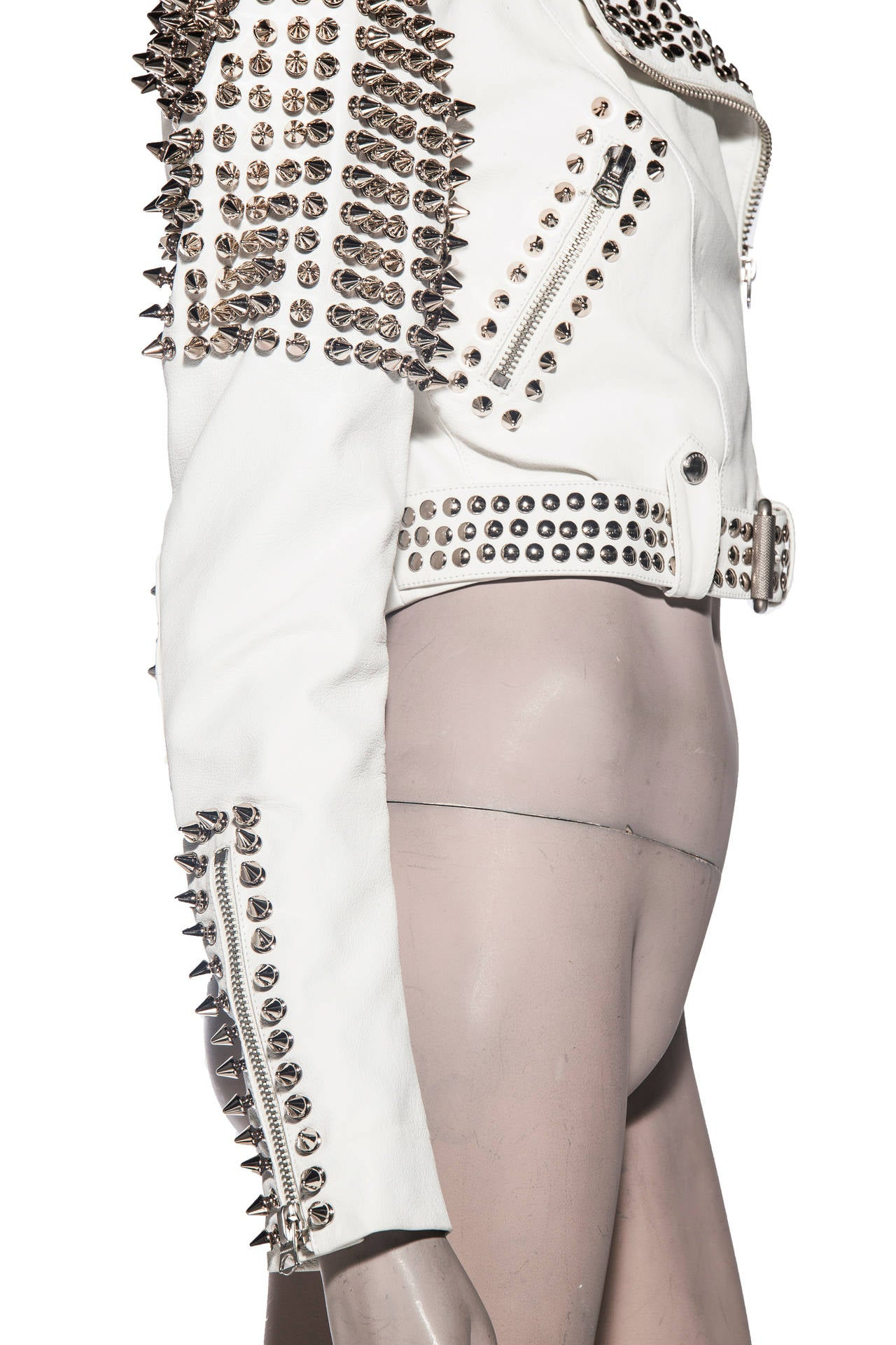Burberry Brit Studded Leather Jacket 8