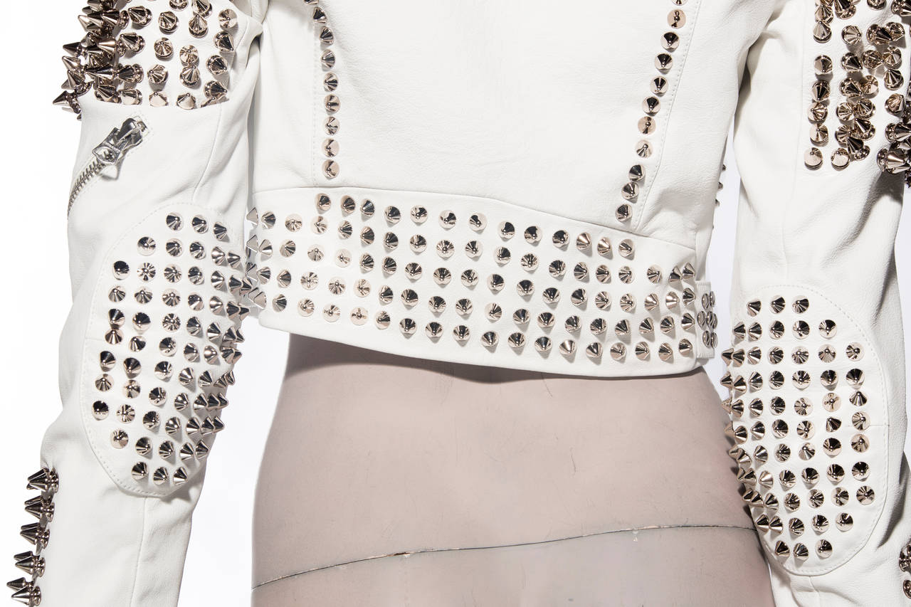 Burberry Brit Studded Leather Jacket 10