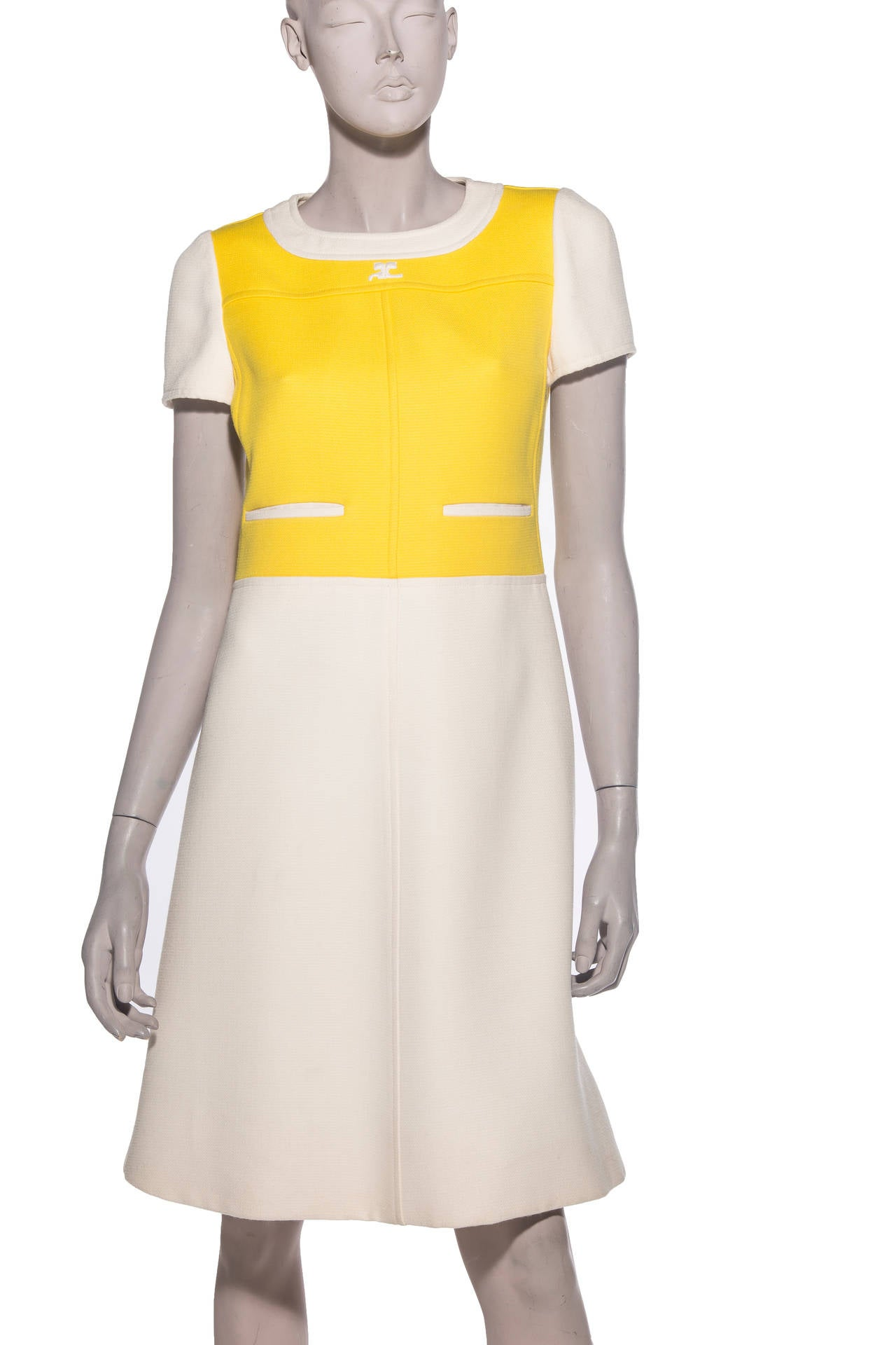 Andre Courreges  A-Line Dress With Cap Sleeves, Circa 1960's 2