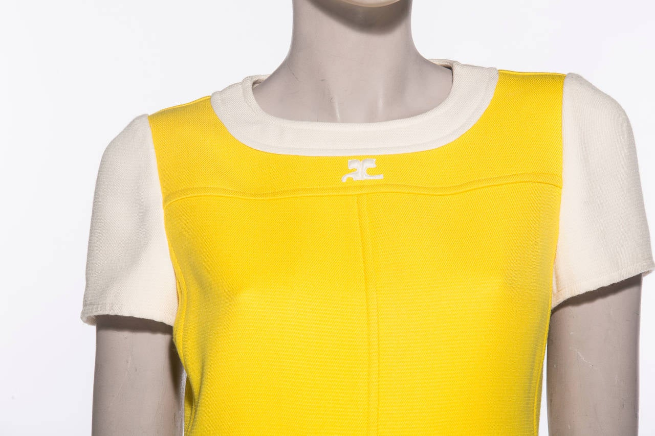 Andre Courreges  A-Line Dress With Cap Sleeves, Circa 1960's 5