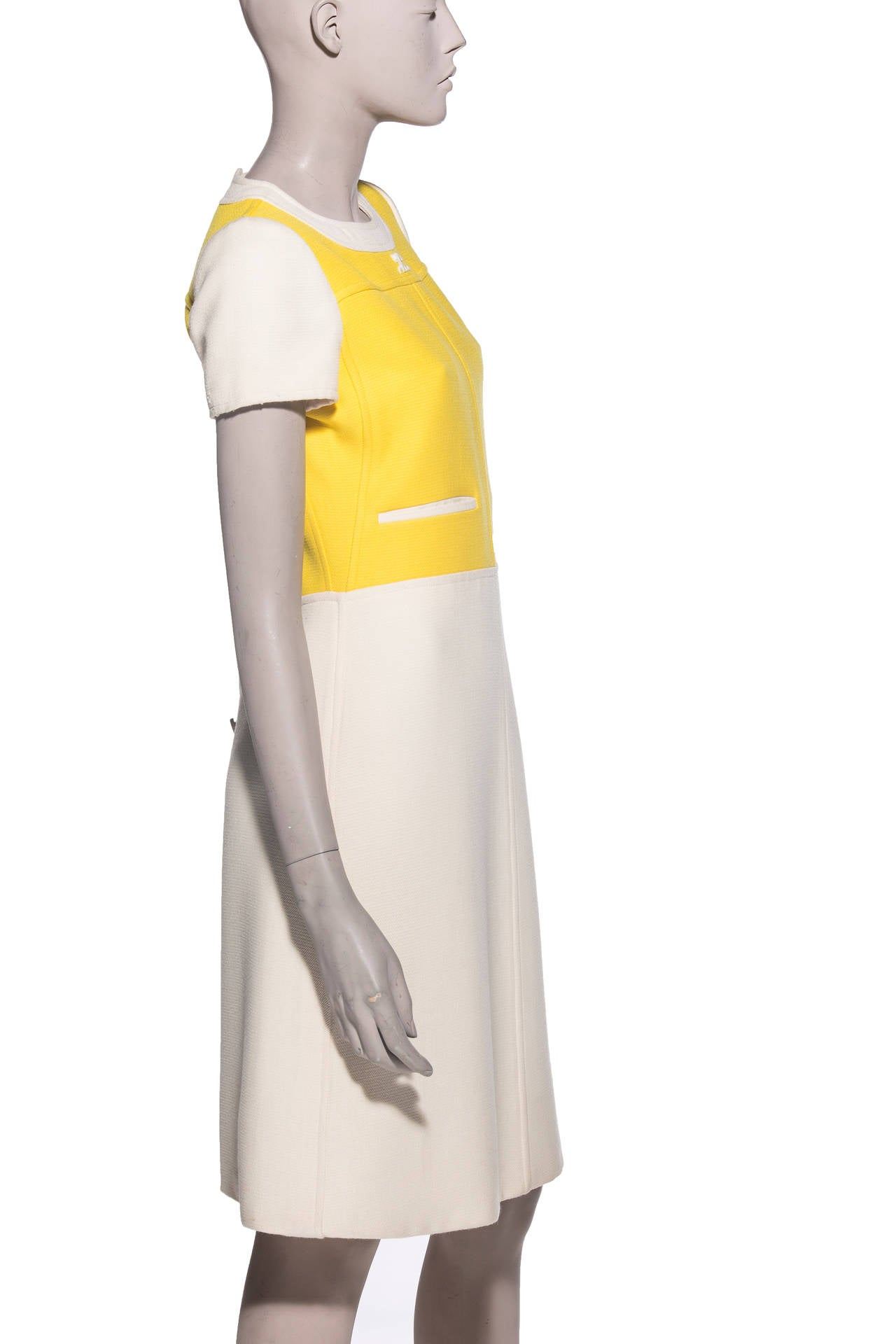 Andre Courreges  A-Line Dress With Cap Sleeves, Circa 1960's 3