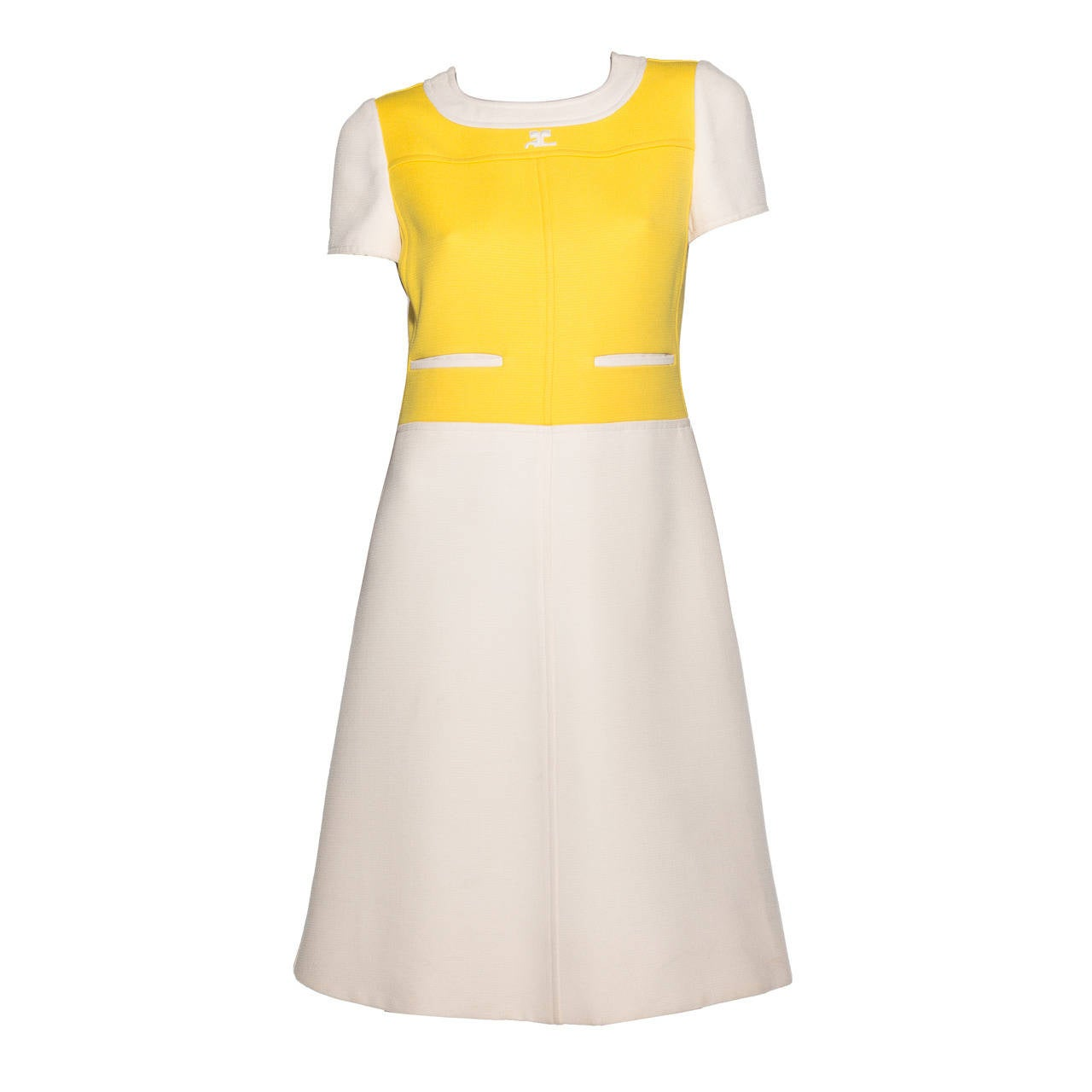 Andre Courreges  A-Line Dress With Cap Sleeves, Circa 1960's 1