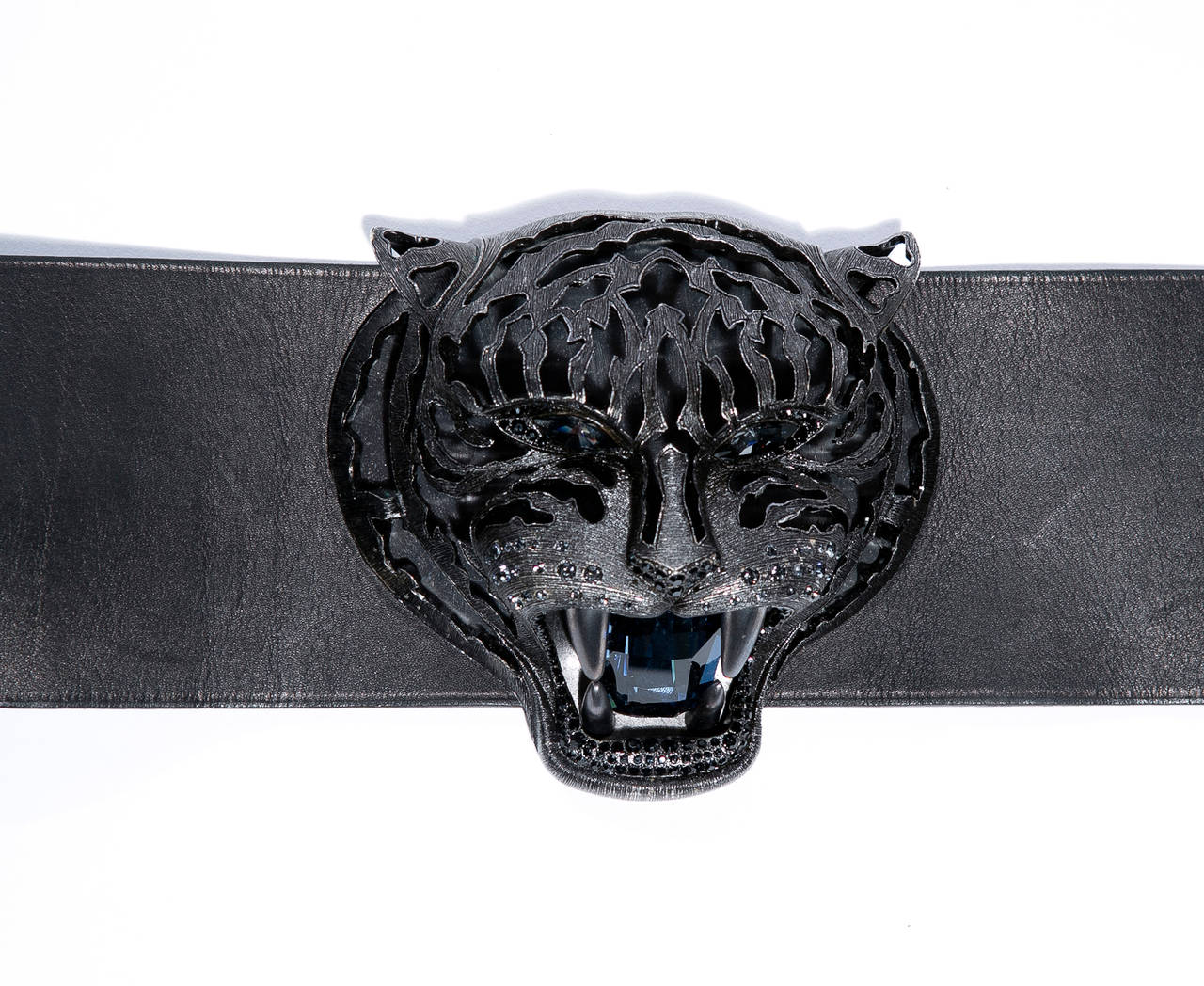 Women's   Alber Elbaz for Lanvin Runway Black Leather Braided Pandora Belt, Fall 2012 For Sale