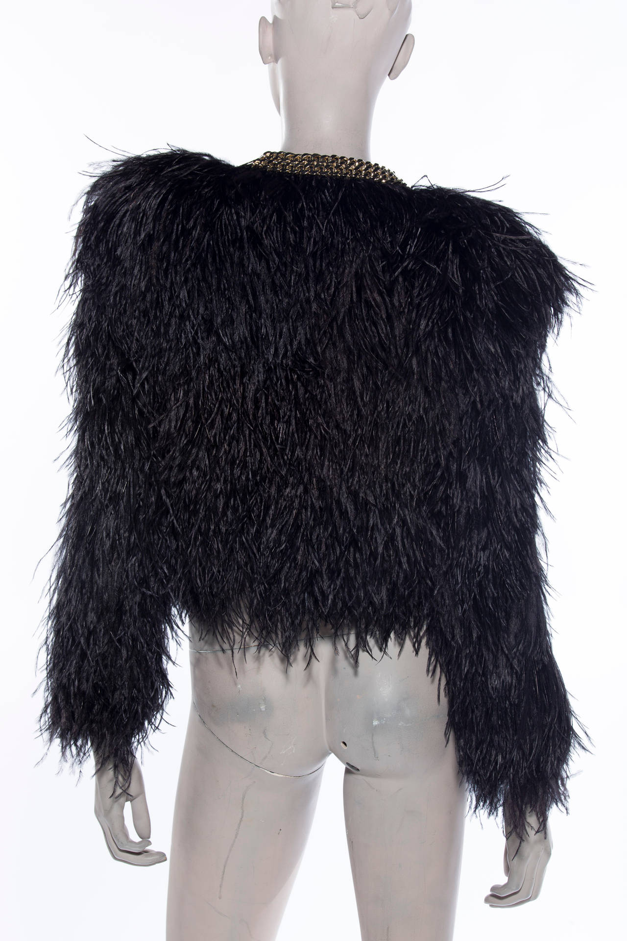 Givenchy Black Ostrich Feather Jacket At 1stdibs