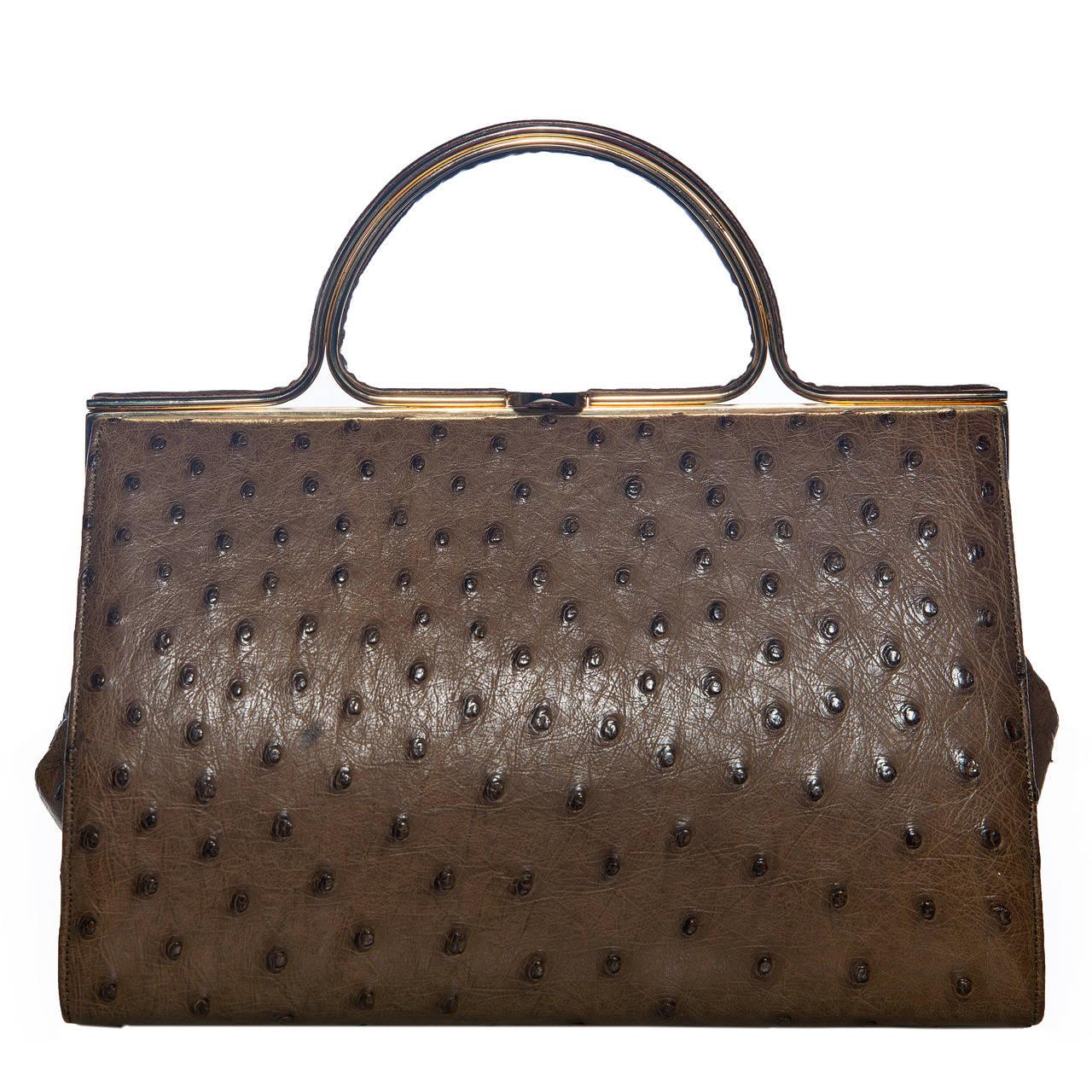 Judith Leiber Ostrich Handbag at 1stdibs