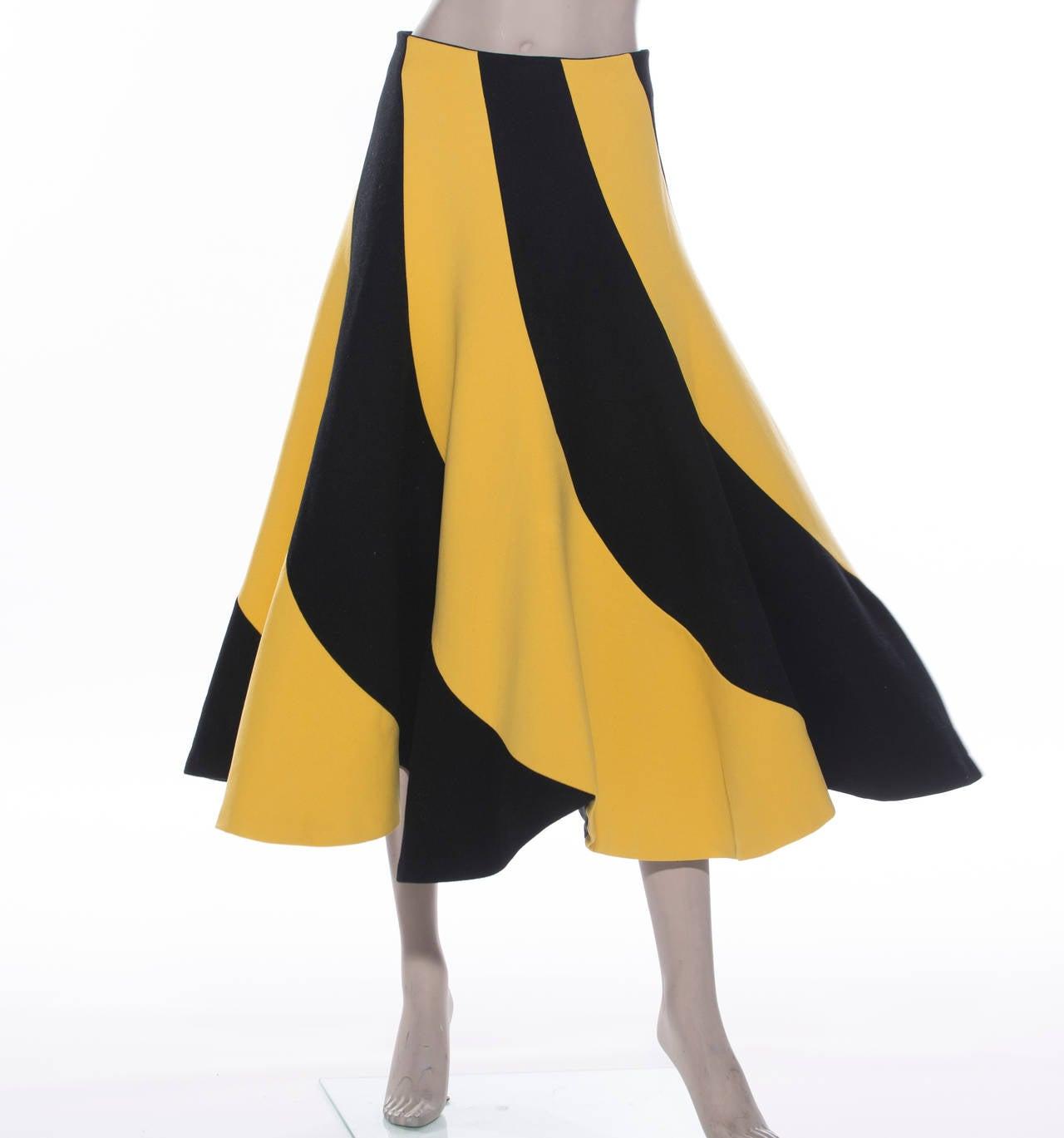 Yohji Yamamoto Circle Skirt, Circa 1990's 5