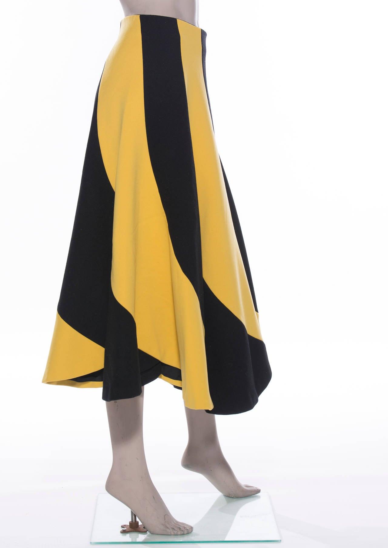 Yohji Yamamoto Circle Skirt, Circa 1990's 2