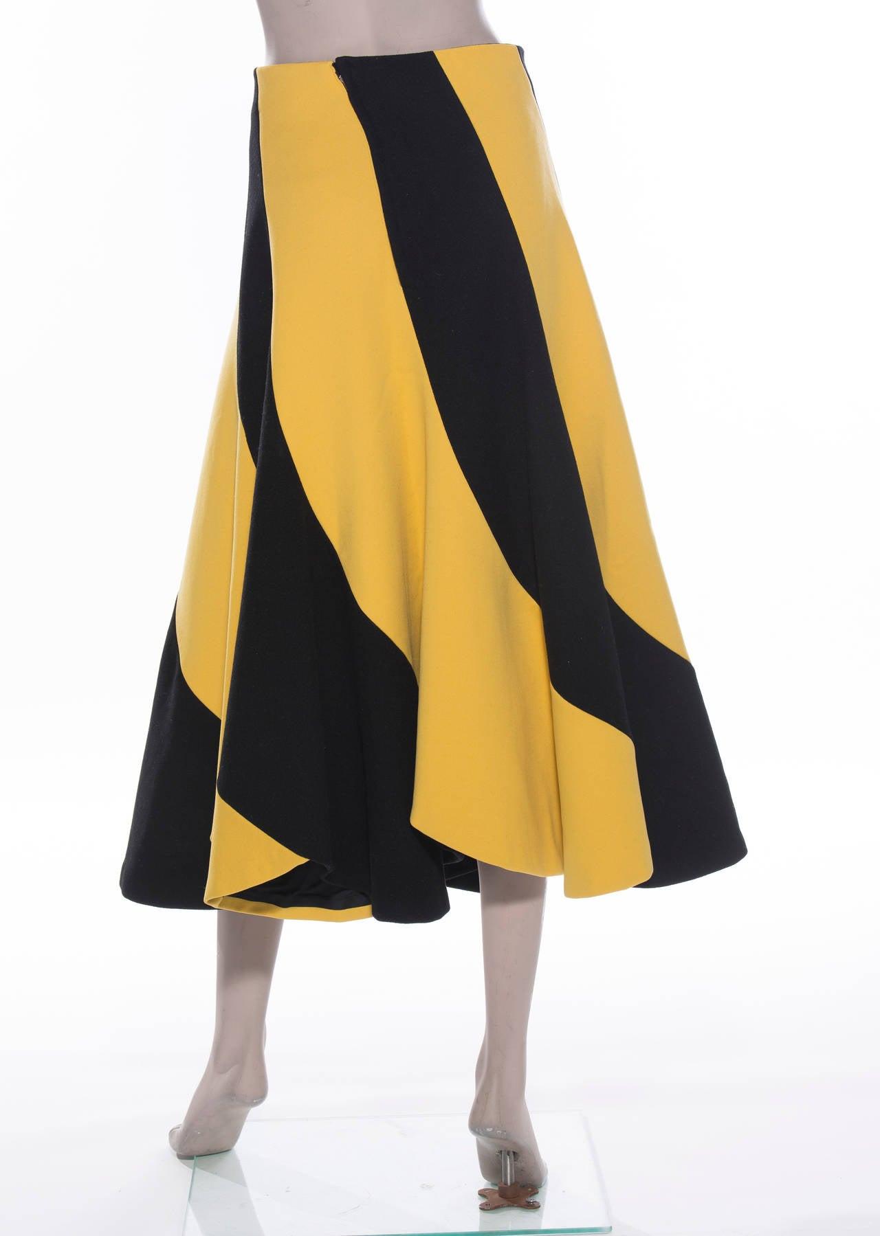 Yohji Yamamoto Circle Skirt, Circa 1990's 3