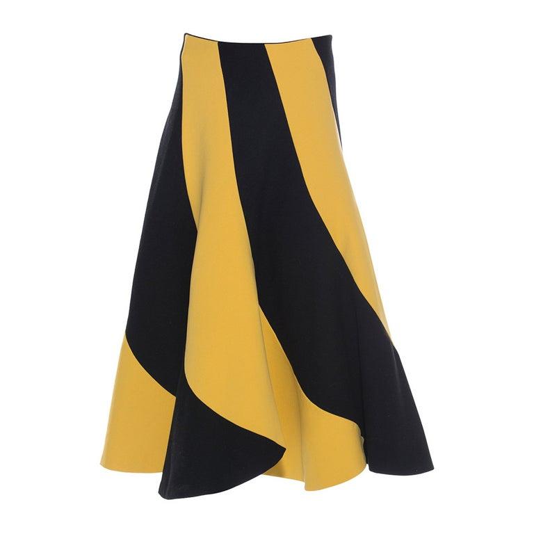 Yohji Yamamoto Wool Nylon Circle Skirt, Circa: 1990's For Sale