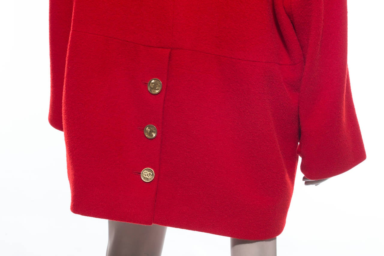 Chanel Cocoon Coat Circa 1980's For Sale 2