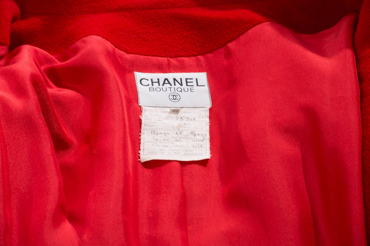 Chanel Cocoon Coat Circa 1980's For Sale 3