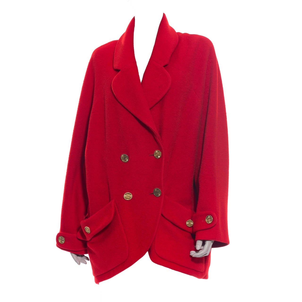Chanel Cocoon Coat Circa 1980's For Sale