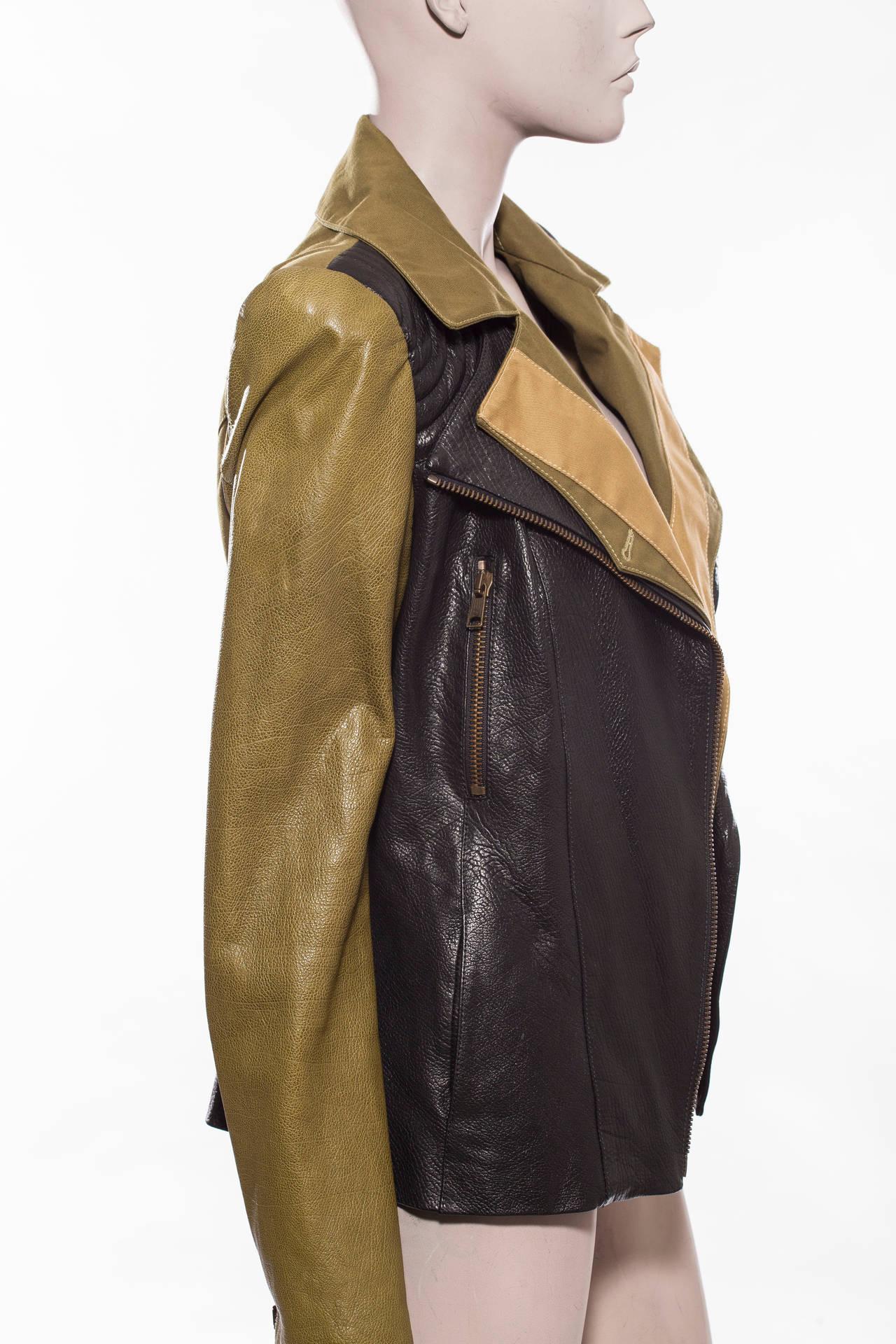 alexander mcqueen leather jacket for sale at 1stdibs. Black Bedroom Furniture Sets. Home Design Ideas