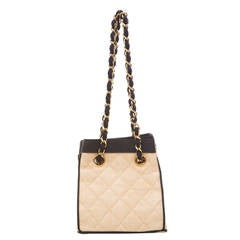 Chanel Raffia Handbag With Grosgrain Trim, Circa 1990's