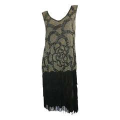 1920s Beaded and Fringe Dress