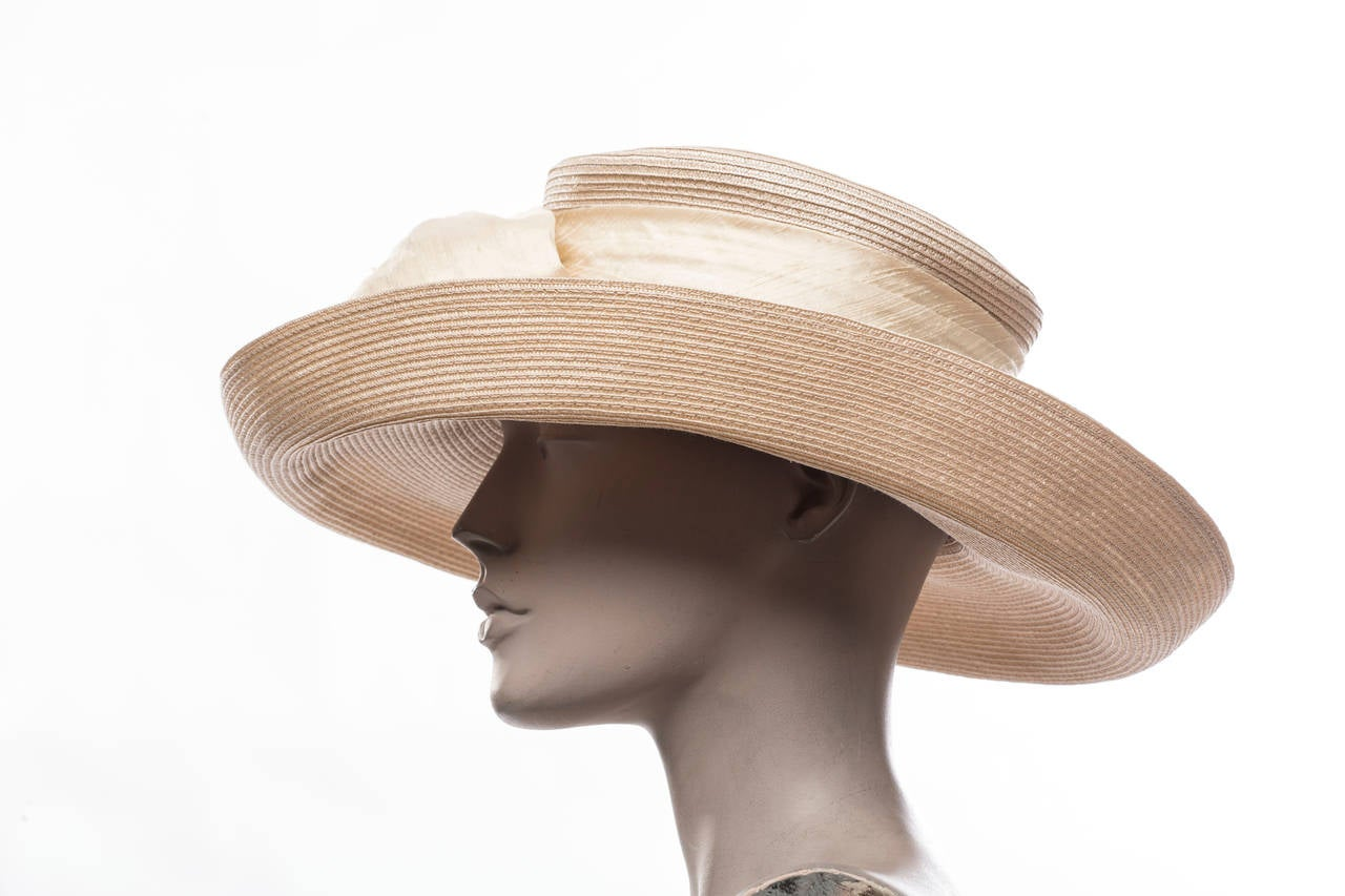 Eric Javits Hand Blocked and Trimmed Hat Circa 1998 3