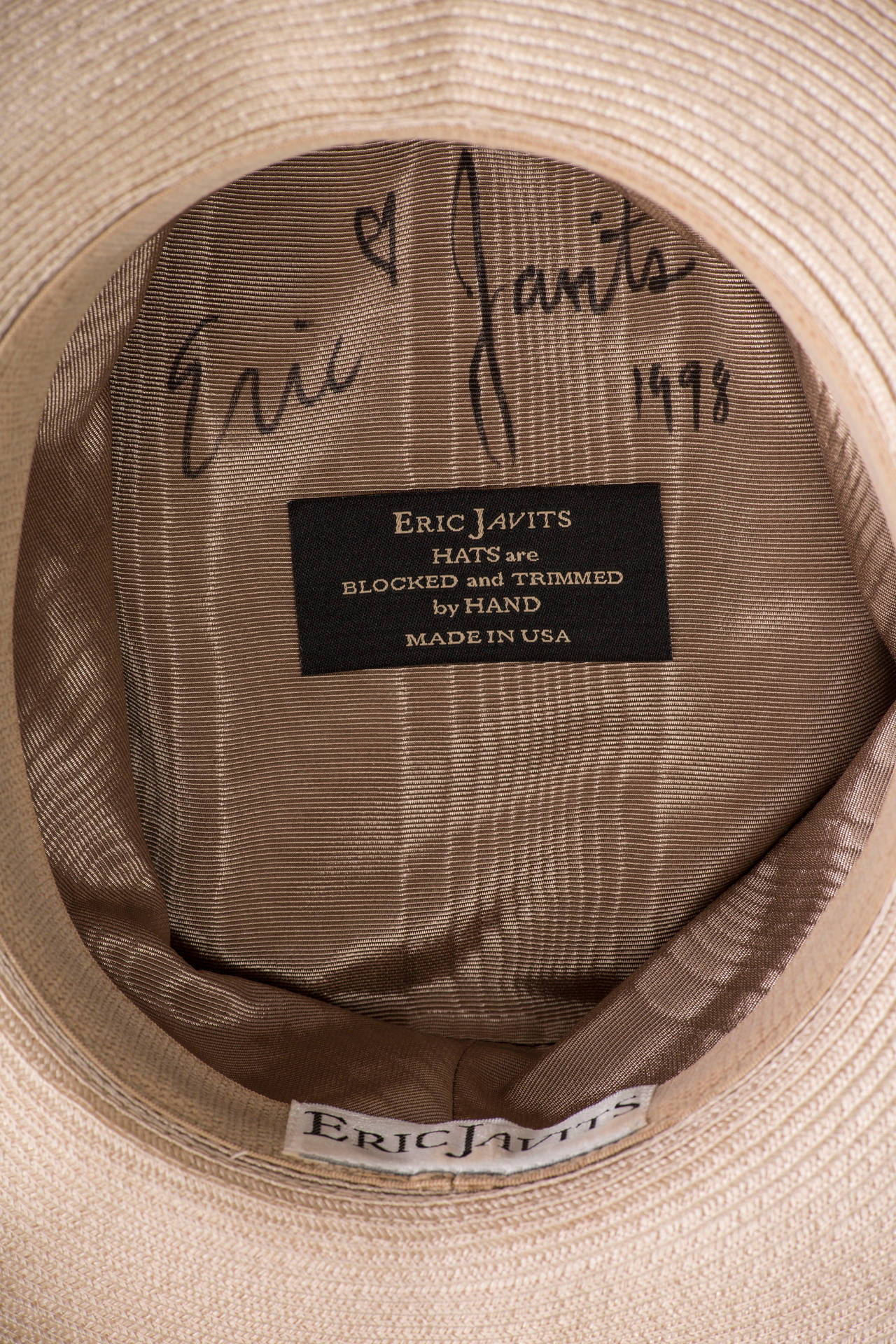 Eric Javits Hand Blocked and Trimmed Hat Circa 1998 6