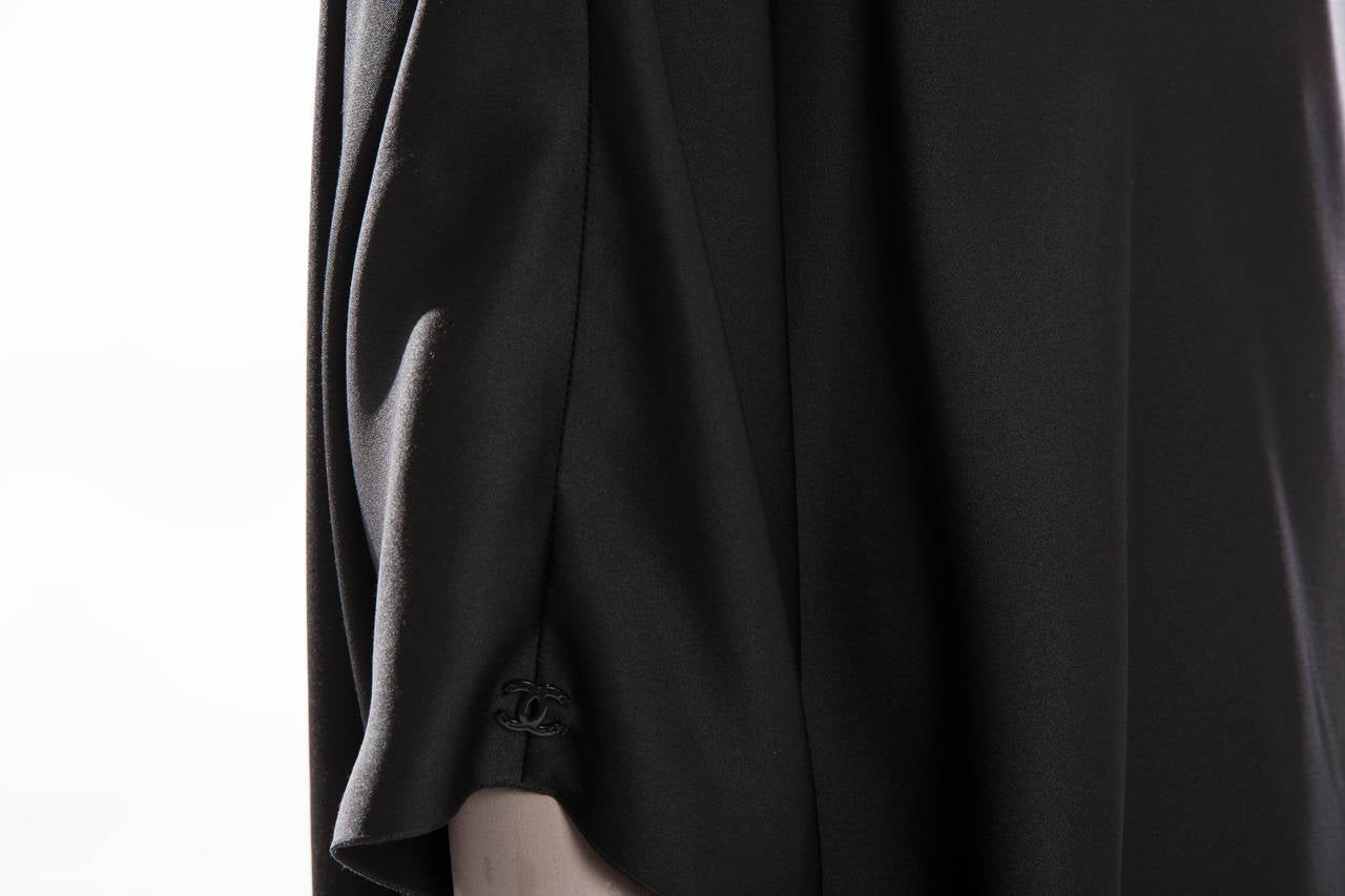 Chanel Black Silk One Shoulder Evening Dress, Cruise 2009  For Sale 1