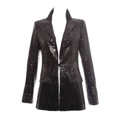 Chanel Black Sequin Jacket With Ivory Silk Trim, Cruise 2009