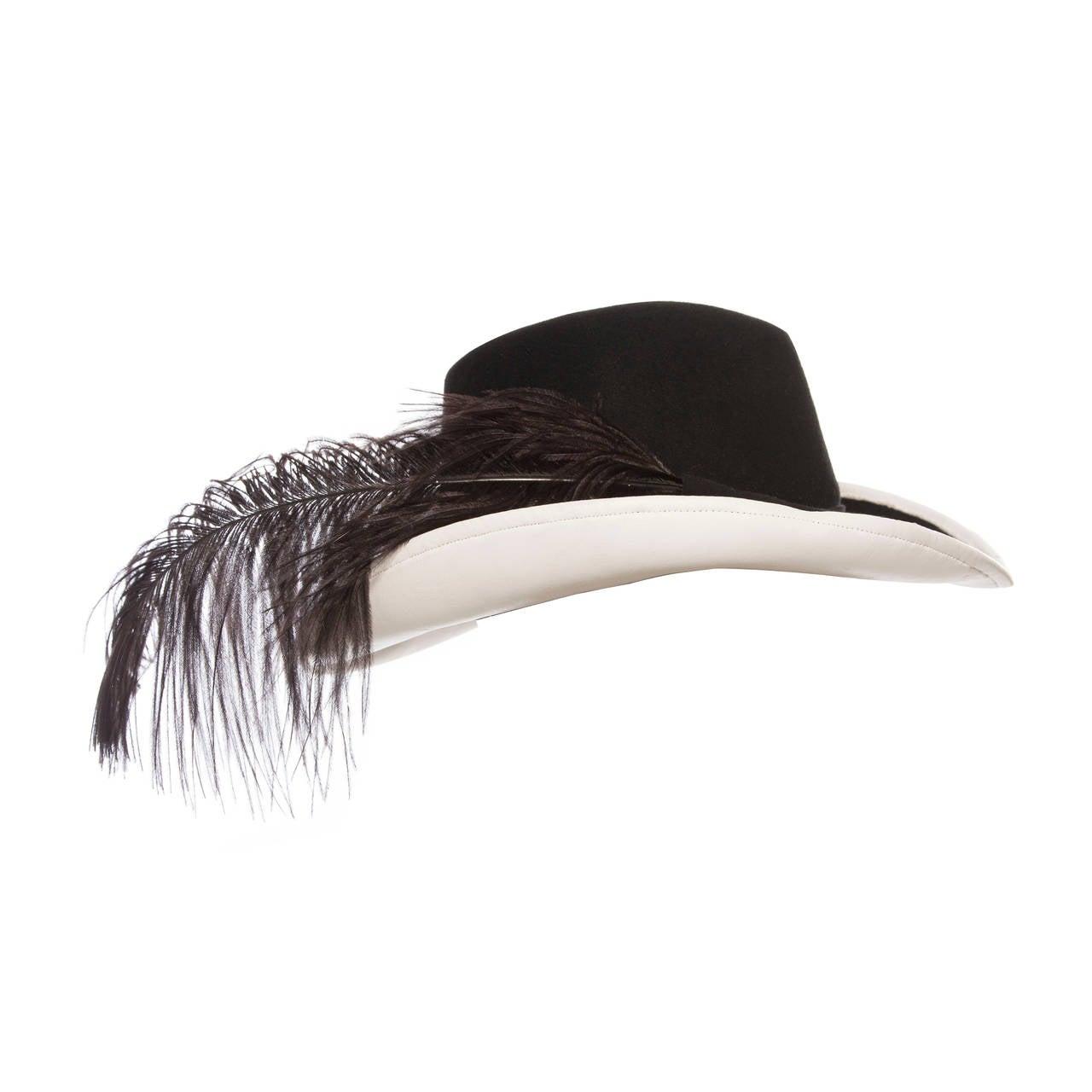 Adolfo Ii 1970s Wool Felt Hat At 1stdibs