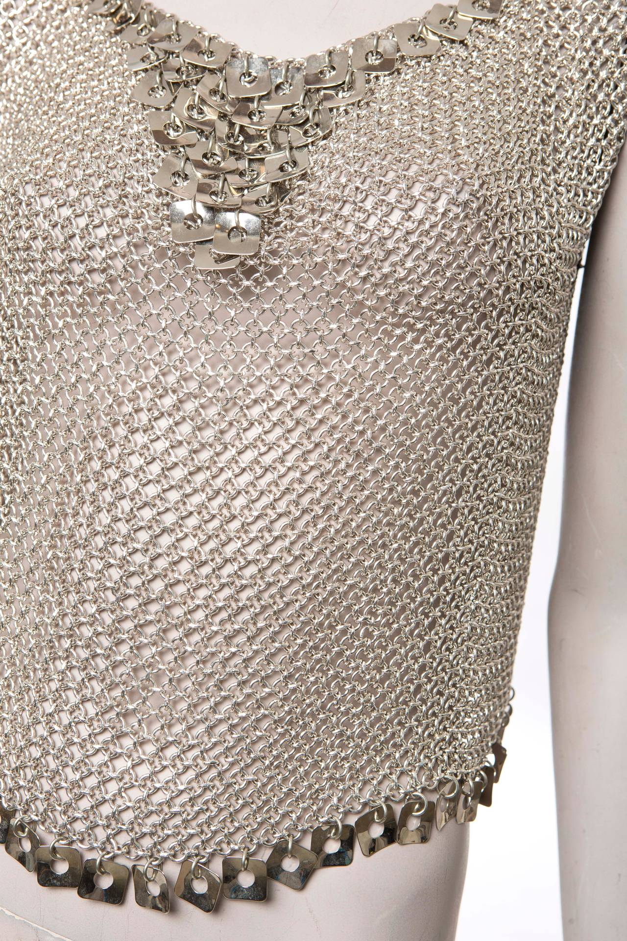 Women's Paco Rabanne Chain Mail Top, Circa 1970's For Sale