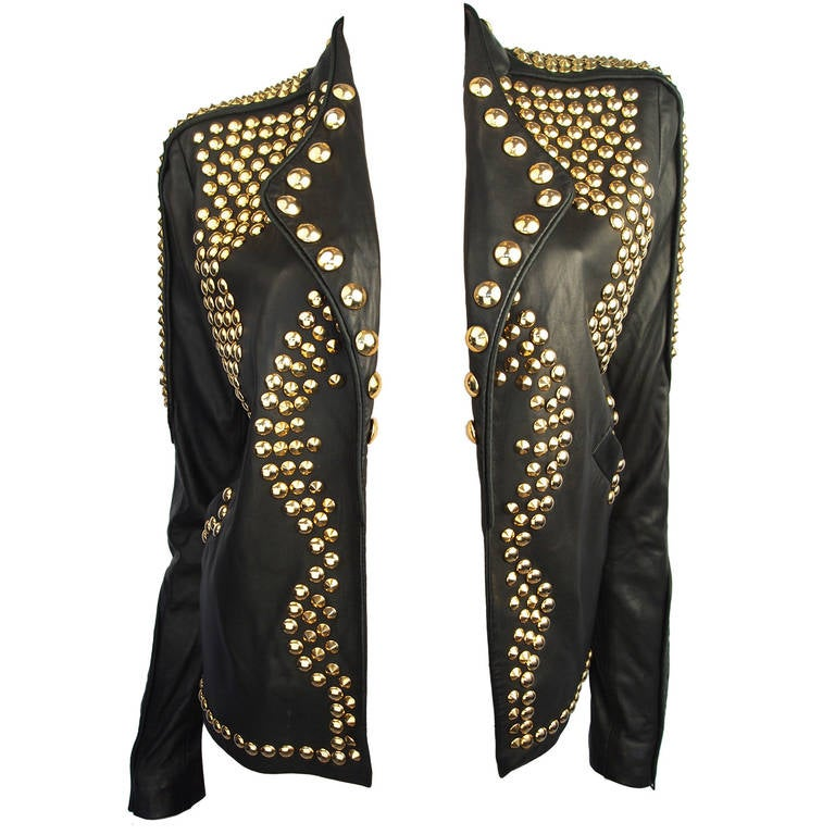 Givenchy Resort 2010 Leather Studded Jacket 1