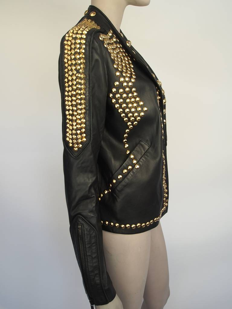 Givenchy Resort 2010 Leather Studded Jacket 2