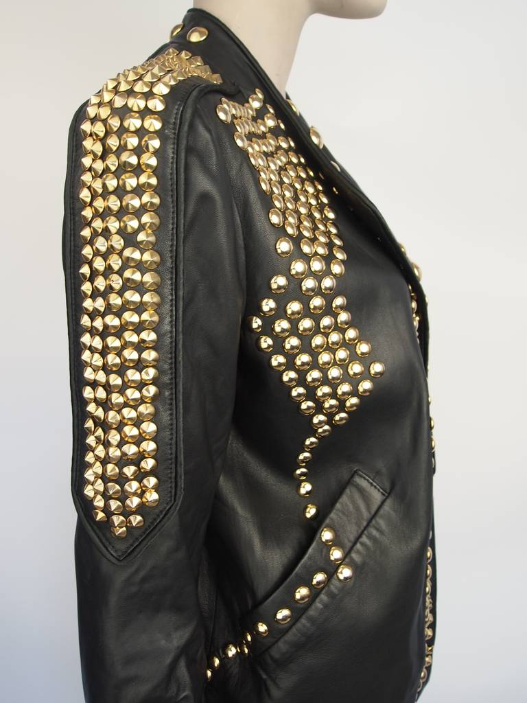 Givenchy Resort 2010 Leather Studded Jacket 4