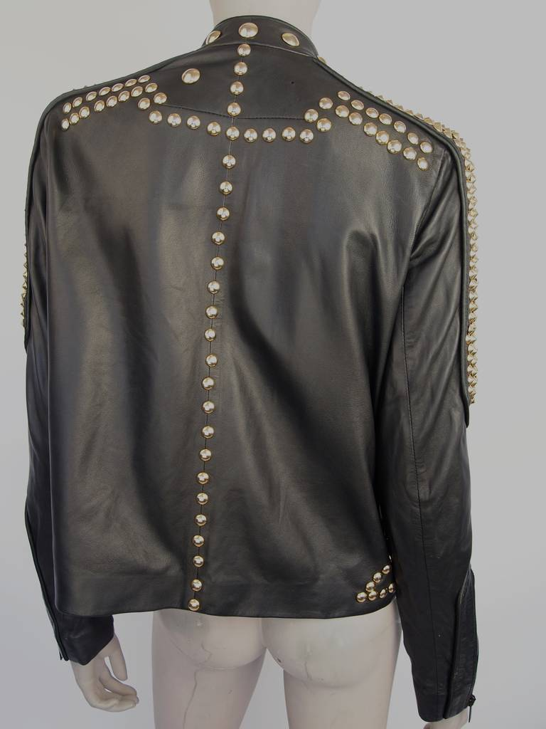 Givenchy Resort 2010 Leather Studded Jacket 3
