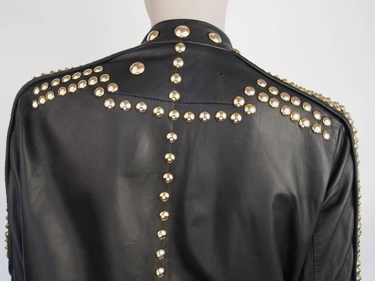 Givenchy Resort 2010 Leather Studded Jacket 8