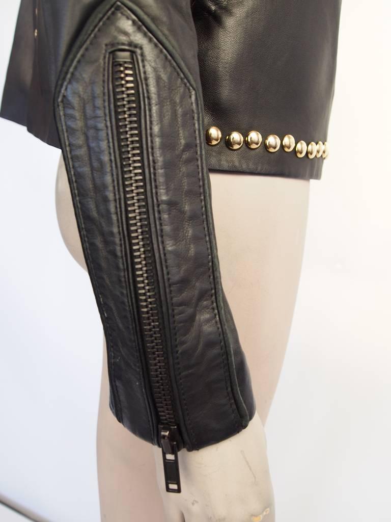 Givenchy Resort 2010 Leather Studded Jacket 6