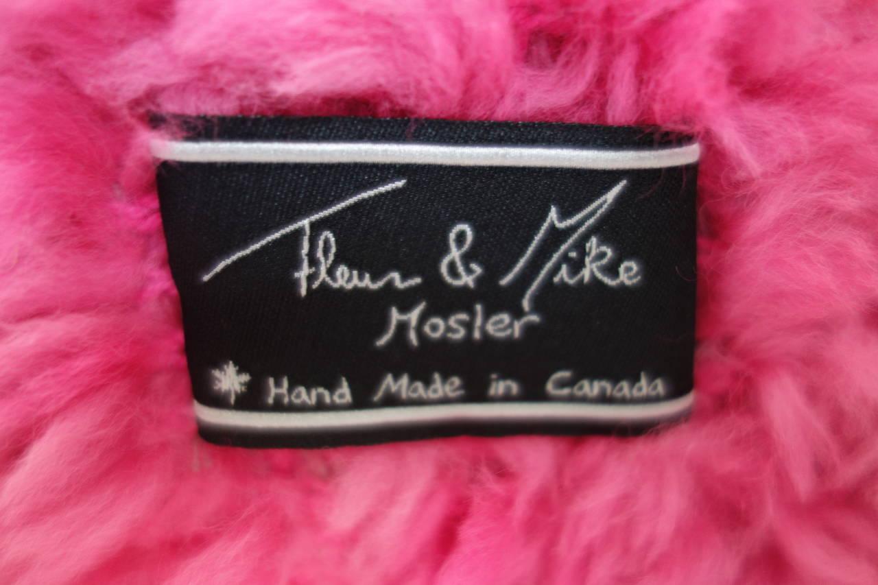 Fleur and Mike Mosler Shirred Mink Coat at 1stdibs