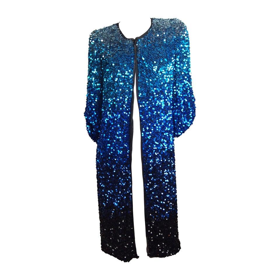 Blumarine Ombre Sequin Long Jacket 1