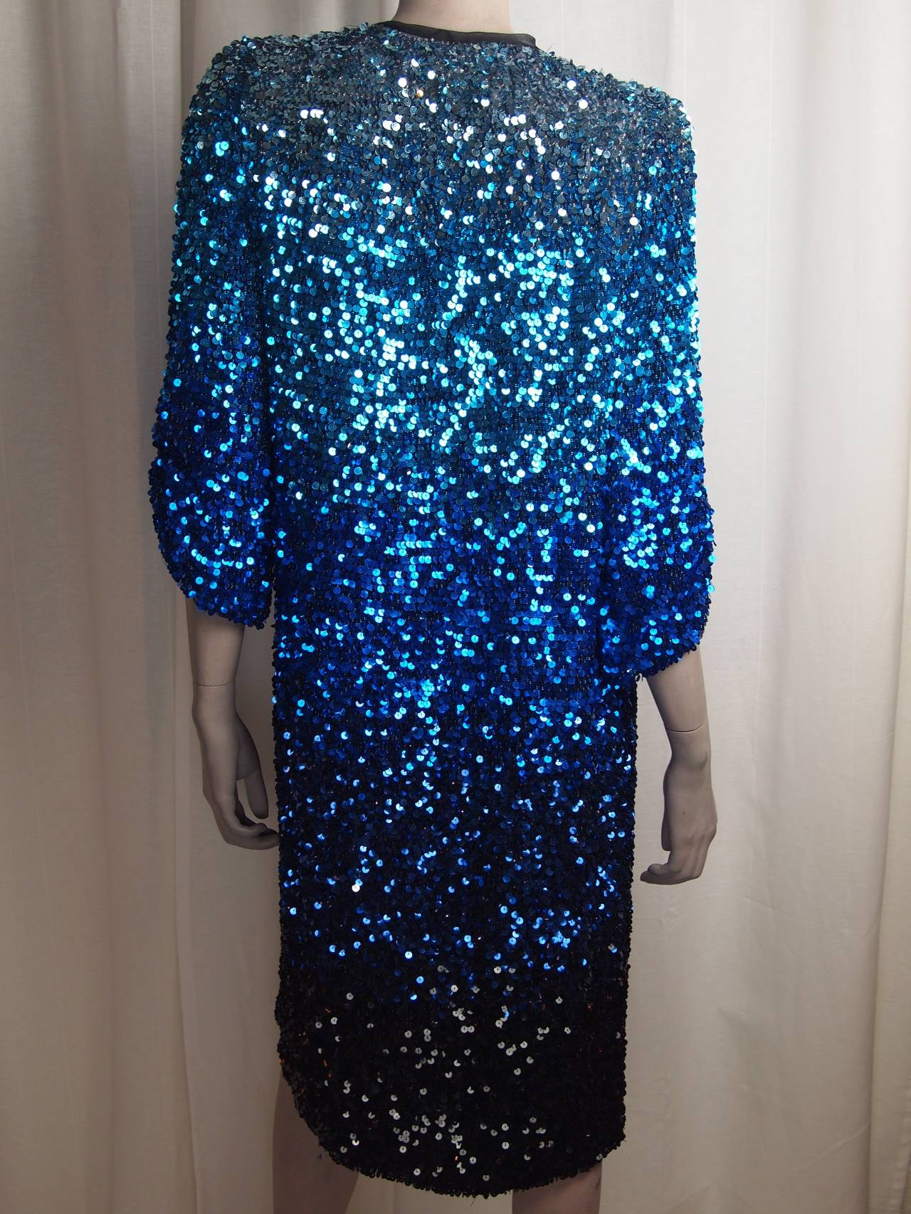 Purple Blumarine Ombre Sequin Long Jacket For Sale