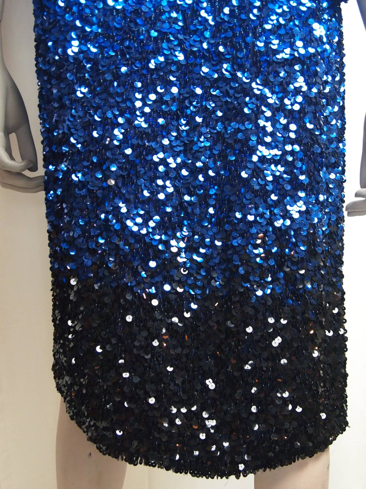 Blumarine Ombre Sequin Long Jacket For Sale 3