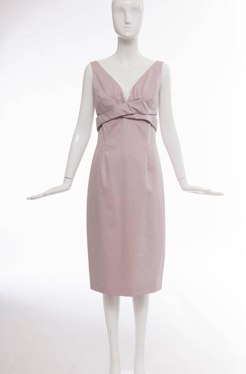 Gray Alexander McQueen Sleeveless Cotton Lilac Dress, Spring 2006 For Sale