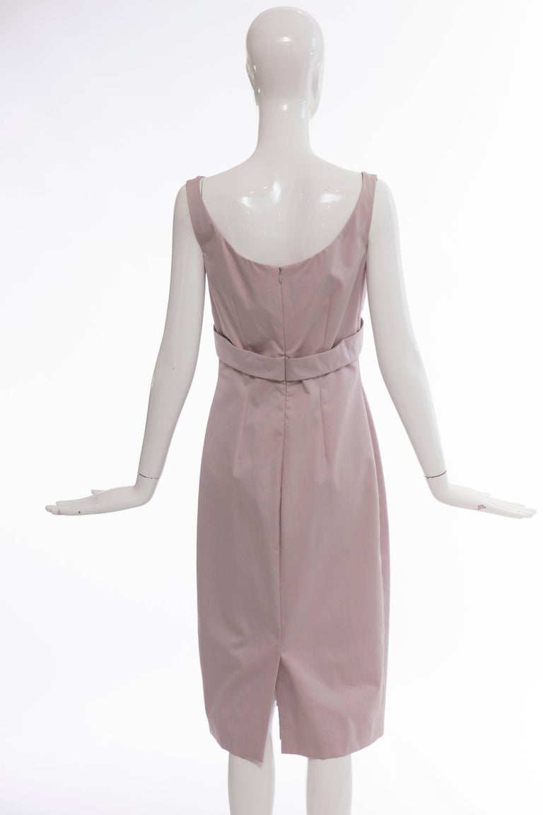 Alexander McQueen Sleeveless Cotton Lilac Dress, Spring 2006 In New Condition For Sale In Cincinnati, OH