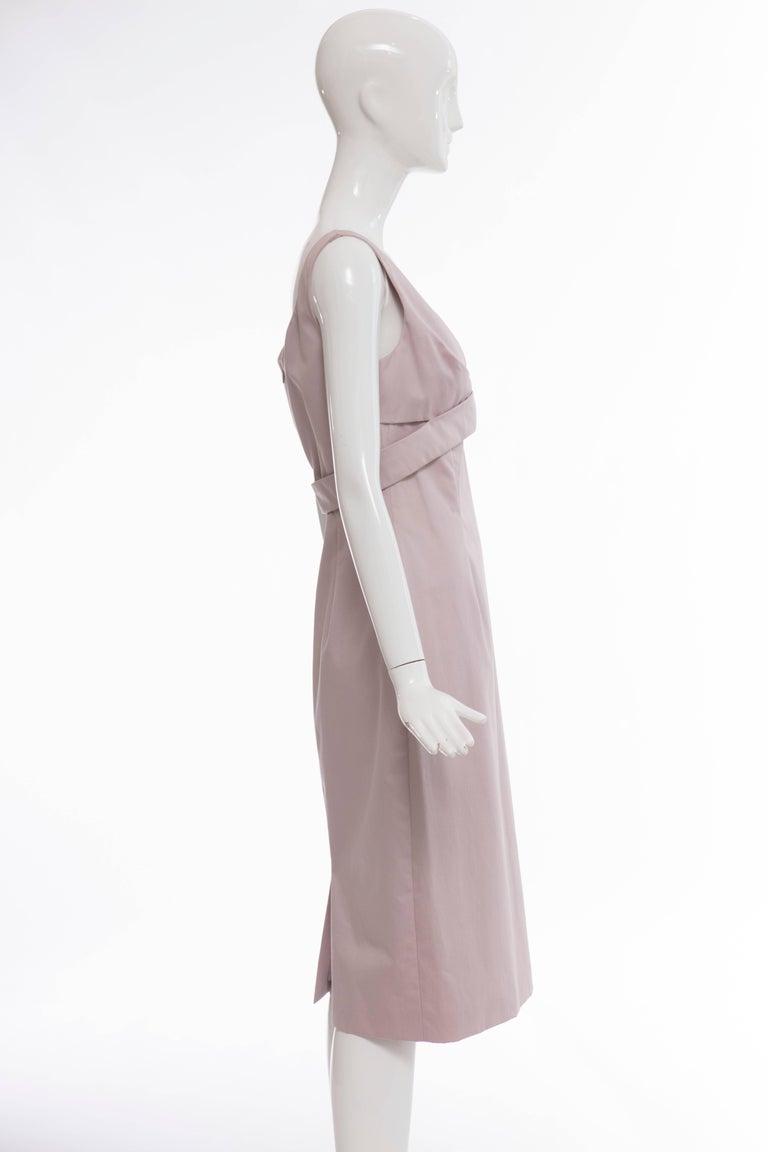 Women's Alexander McQueen Sleeveless Cotton Lilac Dress, Spring 2006 For Sale