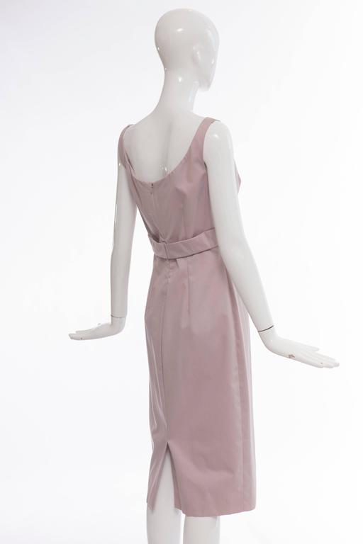 Alexander McQueen Sleeveless Cotton Lilac Dress, Spring 2006 For Sale 3